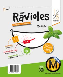 Mes ravioles Sac casher basilic